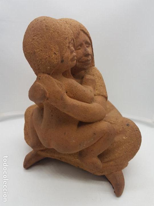 Arte: Maravillosa gran escultura antigua hecha en Perú MATERNIDAD - Foto 4 - 133462898