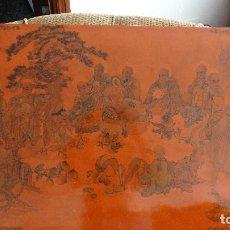 Arte: ANTIGUA PORCELANA CON DIBUJOS DE PAISAJES Y MONJES BUDISTAS. Lote 133631246