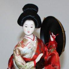 Arte: SENSUAL GEISHA JAPONESA CON SOMBRERO.. Lote 133700926