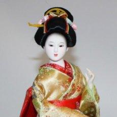 Arte: FINA GEISHA JAPONESA CON KIMONO Y ZANCOS.. Lote 133704578