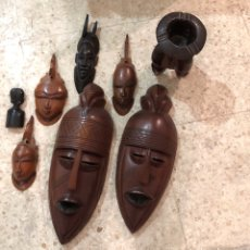 Arte: LOTE DE MÁSCARAS Y FIGURAS AFRICANAS GRAN CALIDAD. Lote 133760161