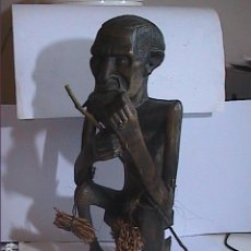 Arte: ESCULTURA EN MADERA. FETICHE TRIBAL. ARTE ÉTNICO. PAPUA NUEVA GUINEA. 34 CM.. Lote 143852737