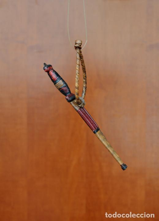 PUÑAL BEREBER DE 28 CM MANGO Y FUNDA DE PIEL Y CUERO (Arte - Étnico - África)