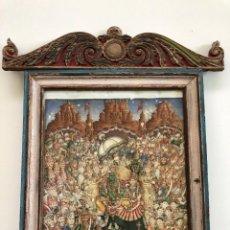 Arte: CUADRO ORIENTAL, ACUARELA HINDÚ, INDIA DE EXCELENTE FACTURA, A ESTUDIAR. Lote 134270698