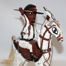 Arte: GUERRERO CON CABALLO EN MADERA (ETHIOPIA).. Lote 134277454