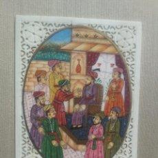 Arte: MINIATURA PINTADA A MANO SOBRE HUESO TALLADO.. Lote 134840478