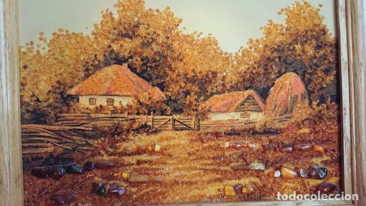 CUADRO PIEDRAS DE AMBAR NATURAL (Arte - Étnico - Europa)