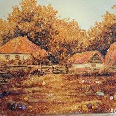 Arte: CUADRO PIEDRAS DE AMBAR NATURAL. Lote 137112782