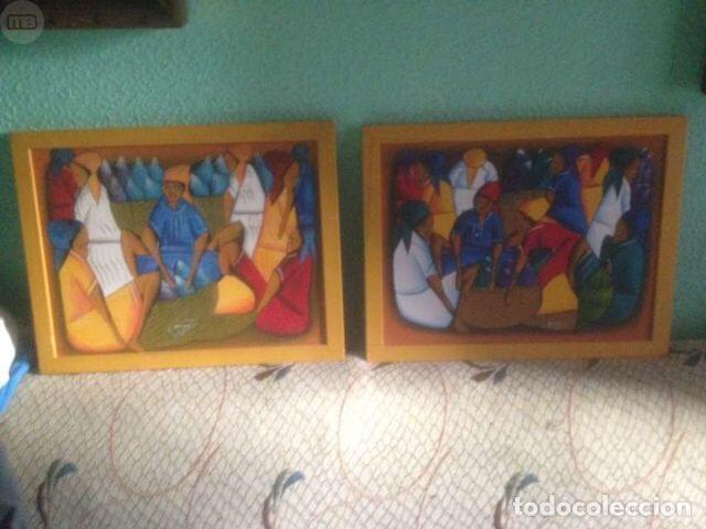 2 CUADROS ORIGINALES Y FIRMADOS. (Arte - Étnico - América)