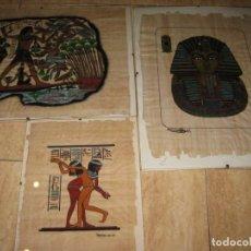 Arte: LOTE DE 3 PAPIROS EGIPCIOS.. Lote 137596394