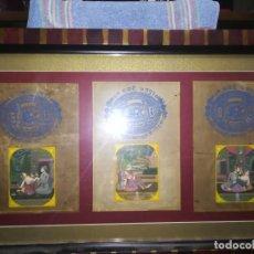 Arte: ANTIGUO 3 SELLOS DE TARIFA DE CORTE HECHO A MANO EN EL PAPEL DEL GOBIERNO DE JAIPUR, INDIA, EROTICOS. Lote 137846682