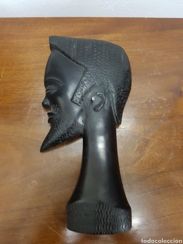 TALLA MADERA ÉBANO AFRICANA (Arte - Étnico - África)