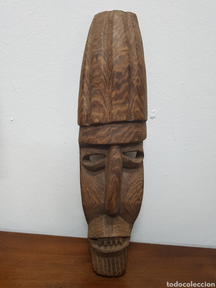 MÁSCARA TALLA MADERA AFRICANA (Arte - Étnico - África)