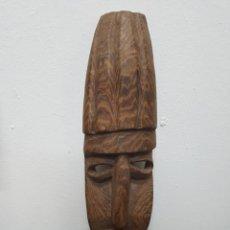 Arte: MÁSCARA TALLA MADERA AFRICANA. Lote 138232570