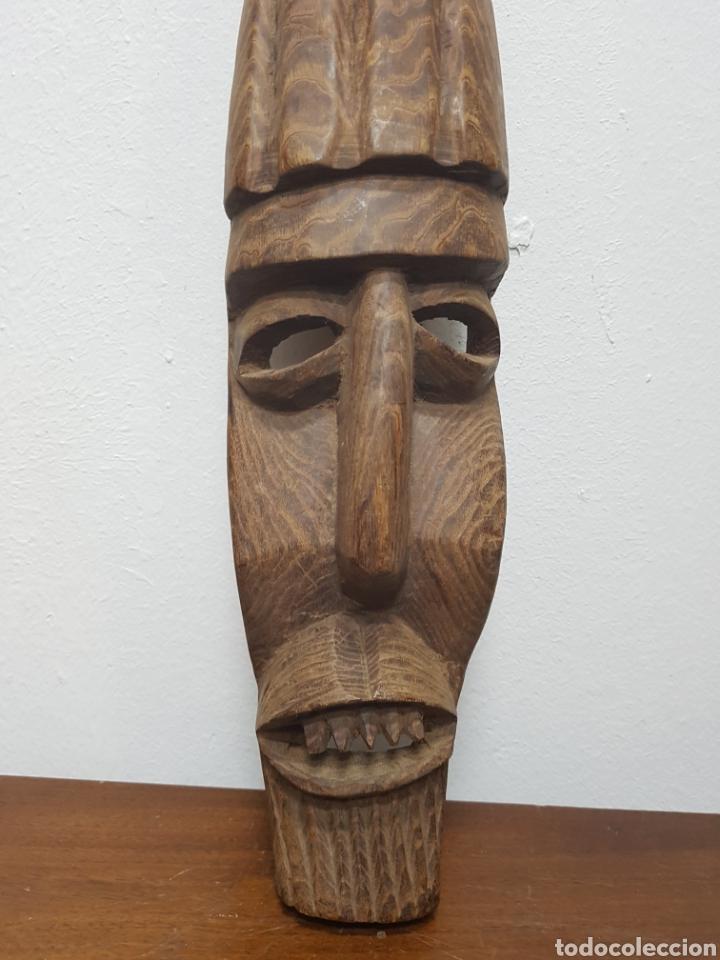 Arte: Máscara talla madera africana - Foto 2 - 138232570
