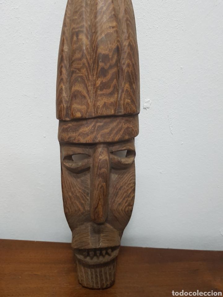 Arte: Máscara talla madera africana - Foto 3 - 138232570