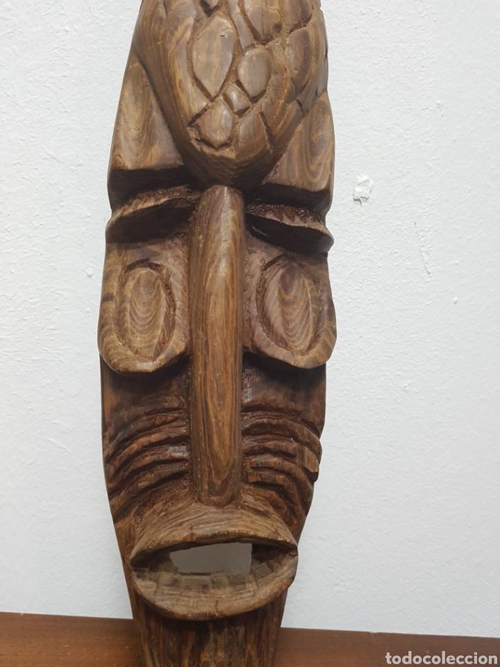 Arte: Máscara talla madera africana - Foto 2 - 138234648