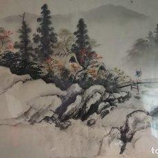 Arte: PINTURA JAPONESA SOBRE SEDA. Lote 138720790