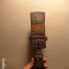 Arte: ANTIGUA MUÑECA ESCULTURA DE MADERA TALLADA AFRICANA, ORIGINAL DE GHANA, DE TRIBU AFRICANA. AFRICA.. Lote 138847570