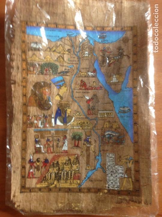 FINA PINTURA EGIPCIA PAPEL SIMILAR A CORTEZA (Arte - Étnico - Oceanía)