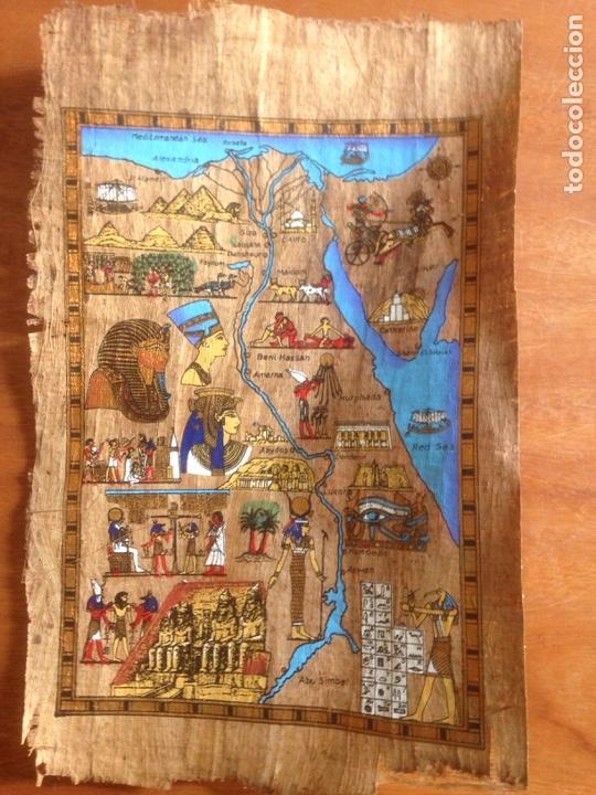 Arte: FINA PINTURA EGIPCIA PAPEL SIMILAR A CORTEZA - Foto 2 - 139115386