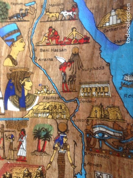 Arte: FINA PINTURA EGIPCIA PAPEL SIMILAR A CORTEZA - Foto 3 - 139115386