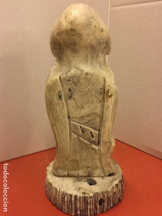 Arte: Preciosa escultura tallada a mano en alabastro - CONFUCIO - 23cms altura - Foto 4 - 139628390
