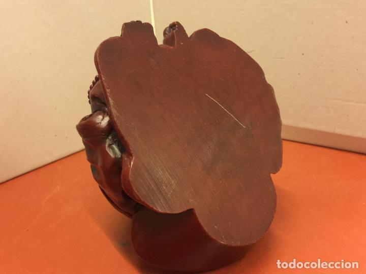 Arte: Preciosa escultura de BUDA en resina maciza, pesa unos 700grs. Buen tamaño - Foto 8 - 139628566