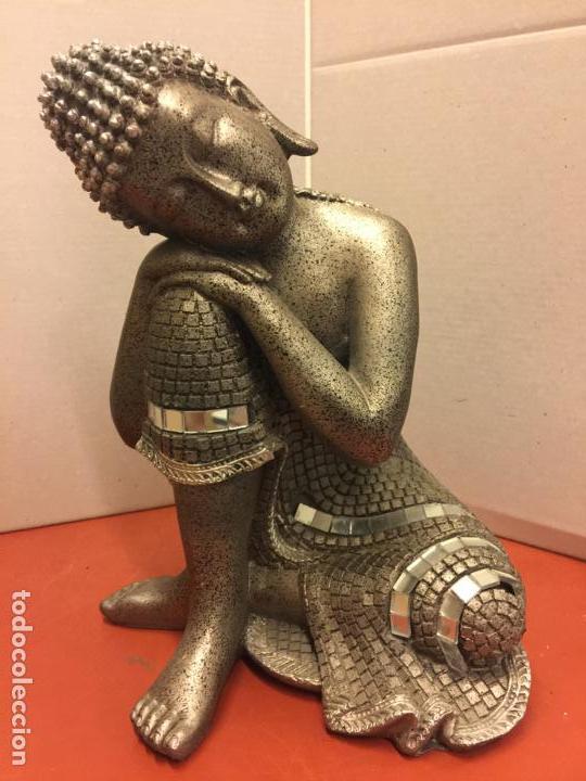 ENCANTADORA FIGURA DE DIOSA HINDÚ. EN RESINA. MIDE UNOS 21CMS ALTURA. IMPECABLE (Arte - Étnico - Asia)