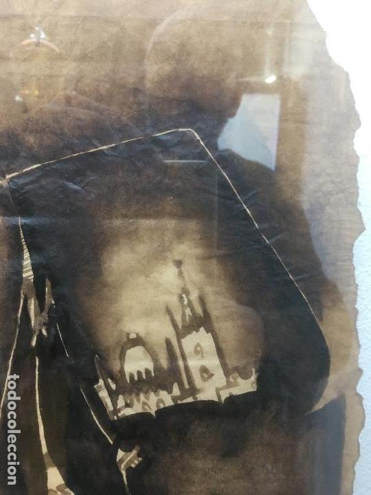 Arte: PINTURAS DE DIOSAS BEREBERES, CON JENA Y PINTURAS NATURALES SOBRE PAPEL DE SACO DE CEMENTO - Foto 14 - 140327522
