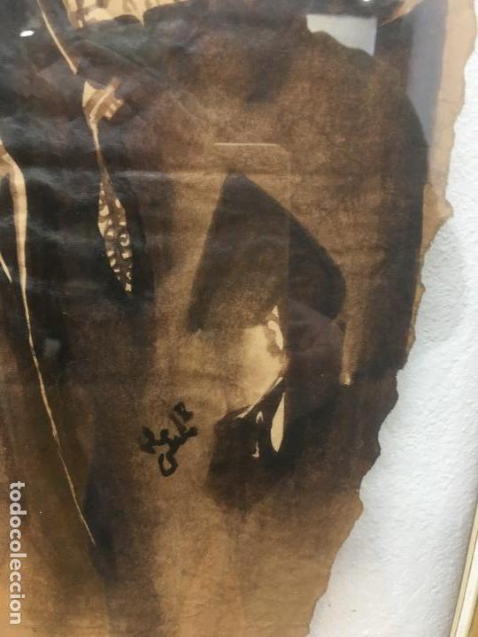 Arte: PINTURAS DE DIOSAS BEREBERES, CON JENA Y PINTURAS NATURALES SOBRE PAPEL DE SACO DE CEMENTO - Foto 15 - 140327522
