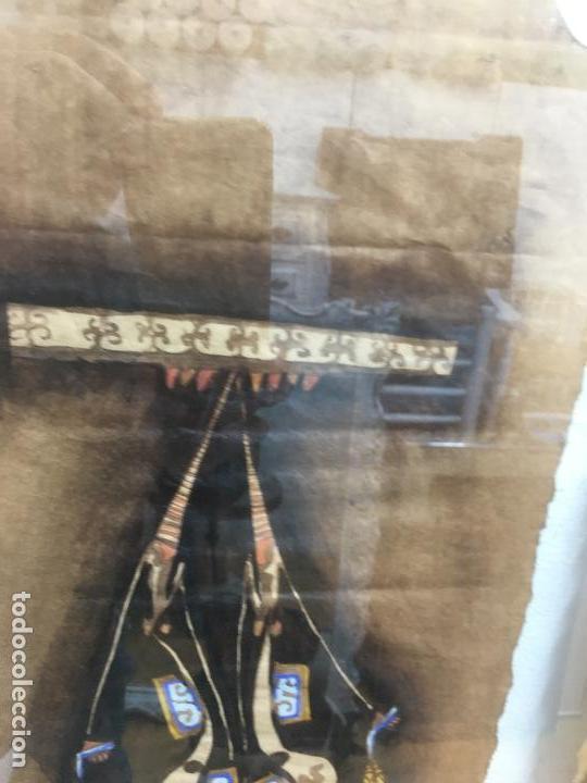 Arte: PINTURAS DE DIOSAS BEREBERES, CON JENA Y PINTURAS NATURALES SOBRE PAPEL DE SACO DE CEMENTO - Foto 21 - 140327522