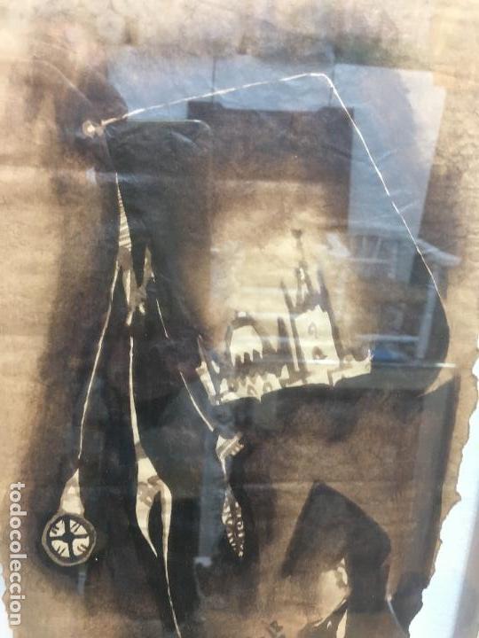 Arte: PINTURAS DE DIOSAS BEREBERES, CON JENA Y PINTURAS NATURALES SOBRE PAPEL DE SACO DE CEMENTO - Foto 23 - 140327522