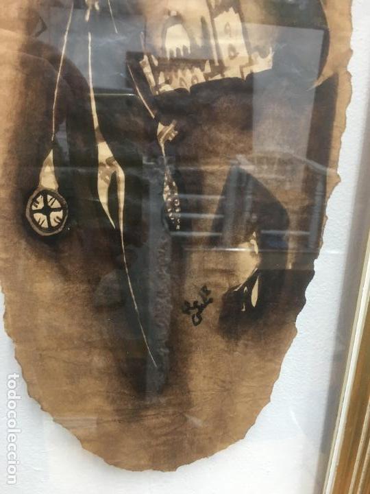 Arte: PINTURAS DE DIOSAS BEREBERES, CON JENA Y PINTURAS NATURALES SOBRE PAPEL DE SACO DE CEMENTO - Foto 24 - 140327522