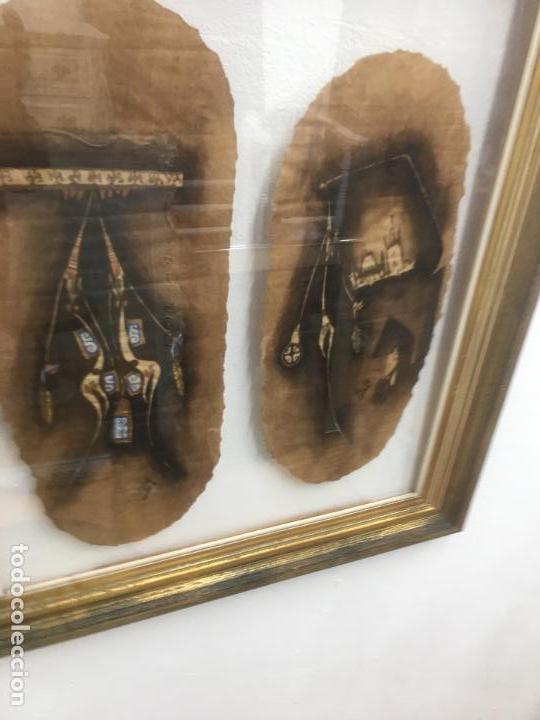 Arte: PINTURAS DE DIOSAS BEREBERES, CON JENA Y PINTURAS NATURALES SOBRE PAPEL DE SACO DE CEMENTO - Foto 25 - 140327522