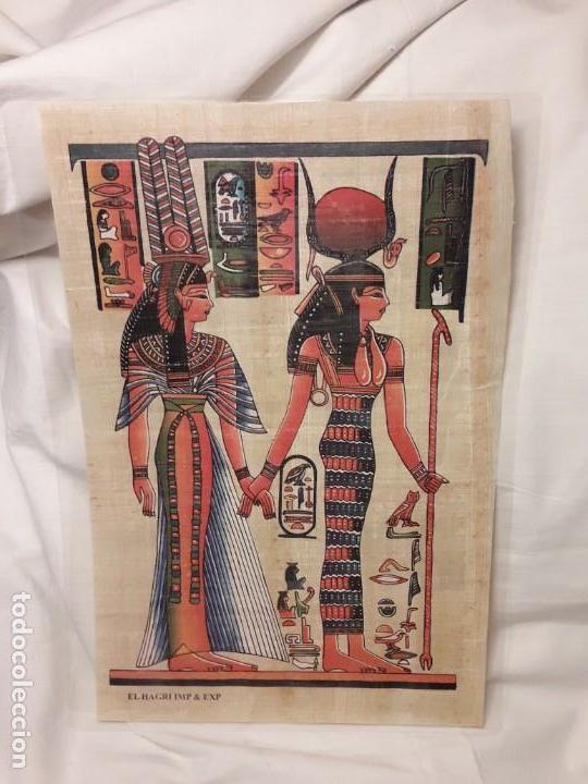 ANTIGUO PAPIRO EGIPCIO PLASTIFICADO (Arte - Étnico - África)