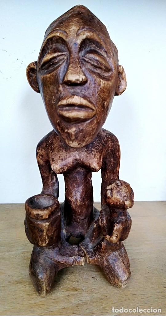 ANTIGUA FIGURA FAMILIAR DE LA CULTURA SENUFO - MALI (Arte - Étnico - África)