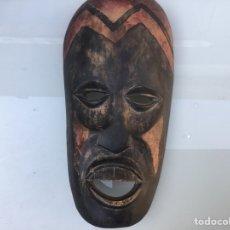 Arte: MÁSCARA AFRICANA DE MADERA , MEDIDA 26 X 13 CM. Lote 142557257