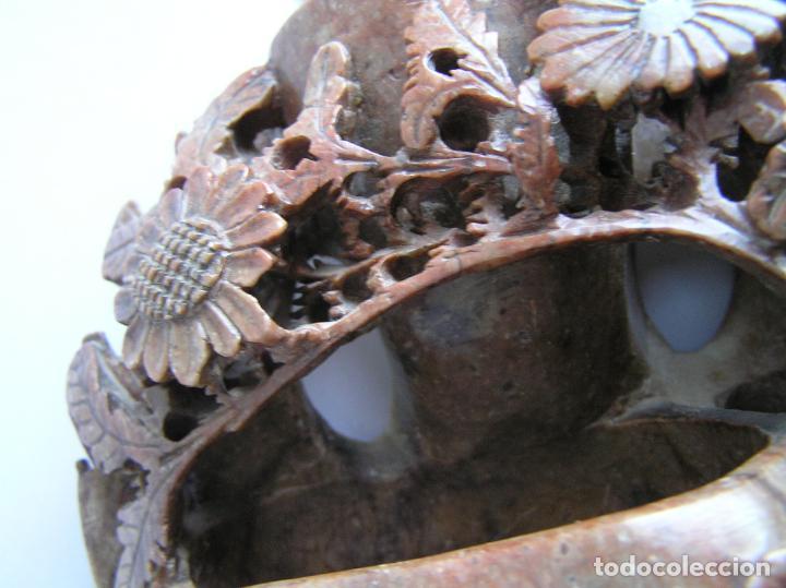 Arte: TALLA ORIENTAL EN JADEÍTA. LIMPIA PINCELES. China. 20 X 16 CM.. Primera mitad siglo XX. - Foto 13 - 142853738