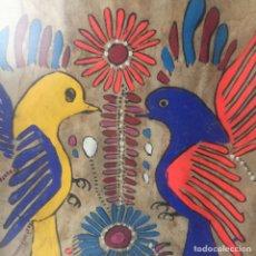 Arte: 2 CUADROS PINTURA INDÍGENA SOBRE PAPEL AMATE - MÉXICO, AÑOS 80. Lote 143786732