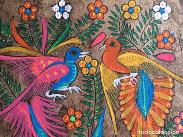 Arte: Pintura (temple) mexicana sobre lámina de corcho - Arte étnico mexicano - 60 x 40 cm (3) - Foto 2 - 146332870