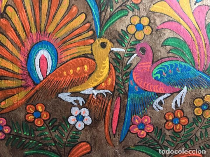 Arte: Pintura (temple) mexicana sobre lámina de corcho - Arte étnico mexicano - 60 x 40 cm (3) - Foto 3 - 146332870
