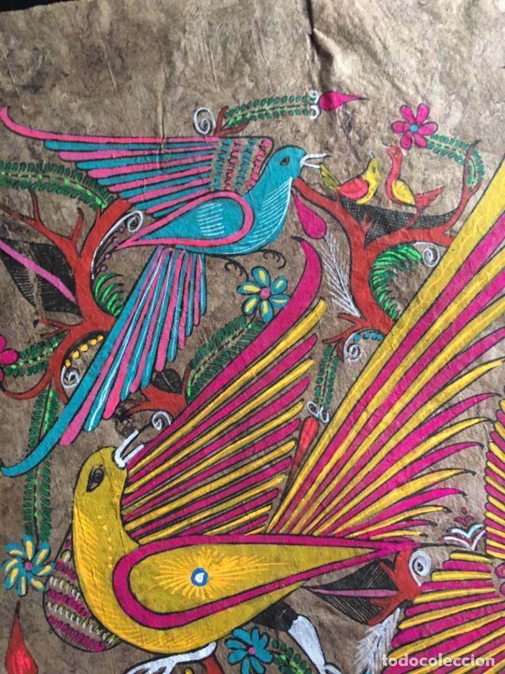 Arte: Pintura (temple) mexicana sobre lámina de corcho - Arte étnico mexicano - 60 x 40 cm (5) - Foto 2 - 144822662