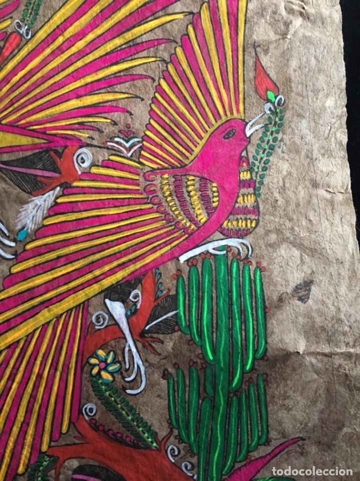 Arte: Pintura (temple) mexicana sobre lámina de corcho - Arte étnico mexicano - 60 x 40 cm (5) - Foto 3 - 144822662