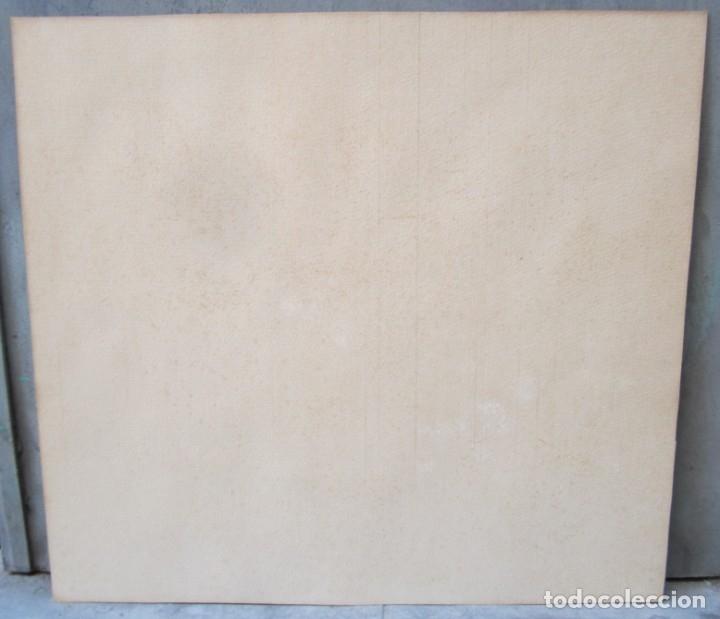 Arte: Pintura japonesa, mitología, artista por identificar. 61x56cm - Foto 4 - 144936126