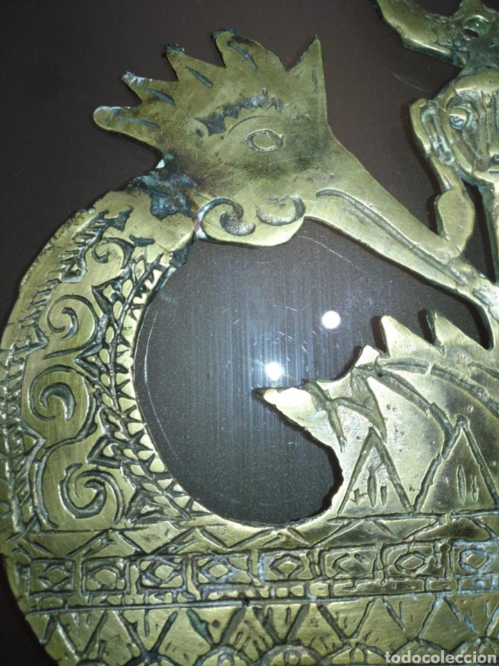 Arte: Mascara etnica bronce. Perfecto estado. - Foto 7 - 145330169