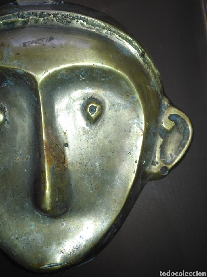 Arte: Mascara etnica bronce. Perfecto estado. - Foto 9 - 145330169