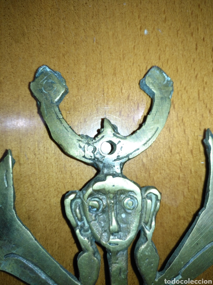 Arte: Mascara etnica bronce. Perfecto estado. - Foto 15 - 145330169