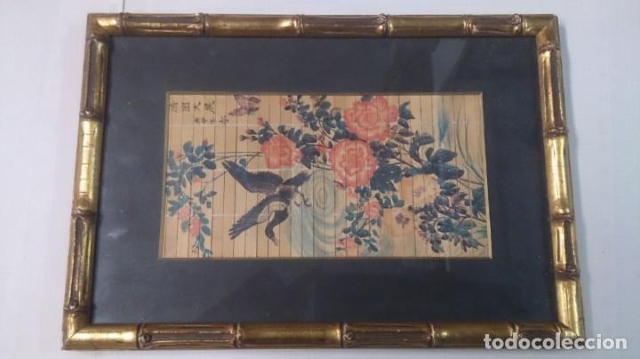 ACUARELA CHINA FIRMADA 23X12. CON MARCO 35X25 (Arte - Étnico - Asia)