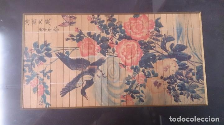 Arte: Acuarela china firmada 23x12. Con marco 35x25 - Foto 2 - 145337858